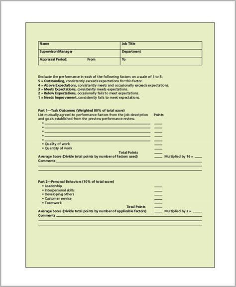 sales performance appraisal template 29 appraisal form in pdf