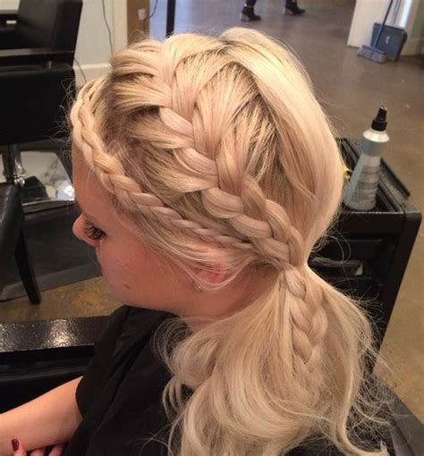 ponytail hairstyles braids side 30 fantastic french braid ponytails