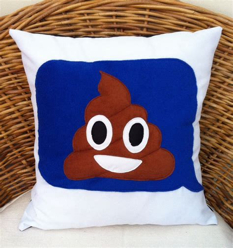 items similar to large 16 quot x16 quot cheeky poo emoji imessage