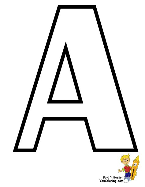 Traditional Free Alphabet Coloring Pages Learn Alphabet The Letter A Coloring Pages