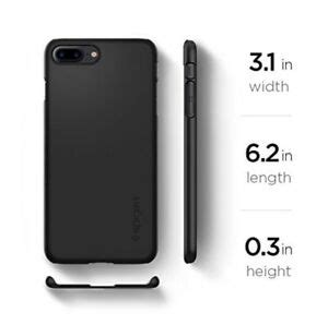 spigen thin fit iphone 8 plus iphone 7 plus with sf coated non slip matte ebay