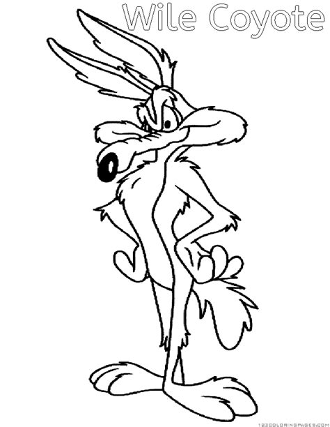 Wile Coyote And Road Runner Coloring Pages Wile E Coyote Coloring Pages