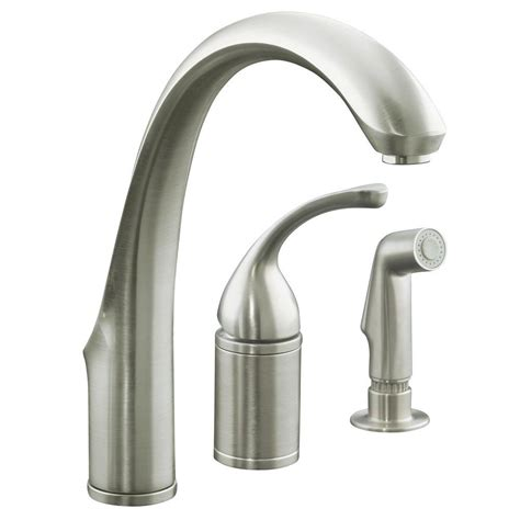 replacing single handle kitchen faucet 2018 home decor tempting kohler kitchen faucet forte single handle standard faucet with side