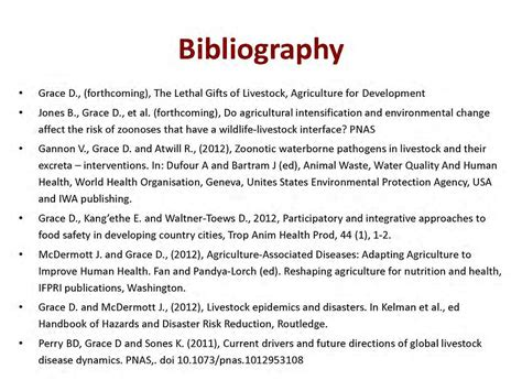 zoonoses  lethal gifts  livestock bibliography slid