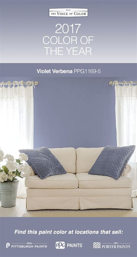2017 paint color of the year violet verbena violet verbena is a gray purple hue that idealizes