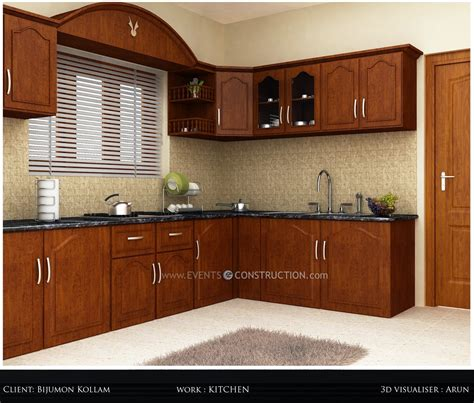 kerala style home kitchen design evens construction pvt ltd simple kerala kitchen interior
