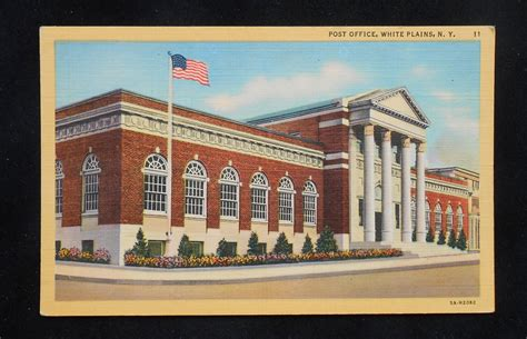 Westchester Post Office by 1940s Post Office White Plains Ny Westchester Co Postcard
