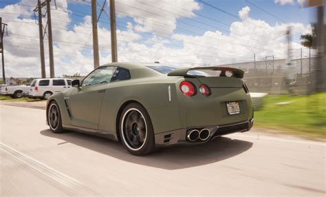 matte wrapped cars custom nissan gtr matte car wrap miami florida