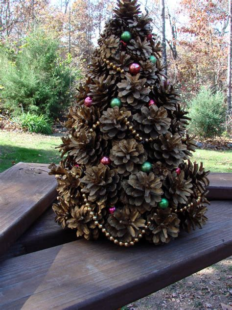 vintage 1962 handcrafted pine cone christmas tree beautiful