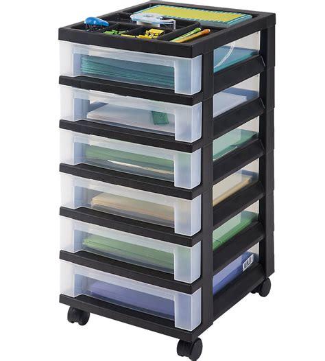 schubladen aufbewahrung six drawer office storage chest black in storage drawers