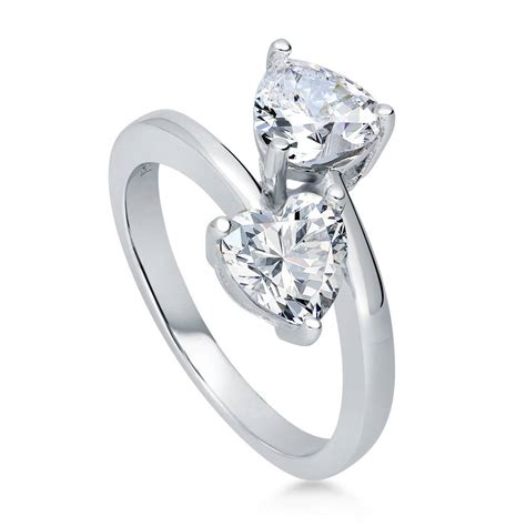 berricle sterling silver cz 2 bypass promise fashion