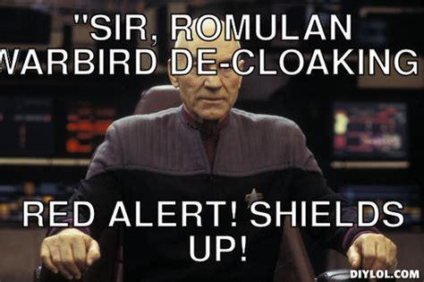 Meme Generator Picard - red alert memes image memes at relatably com