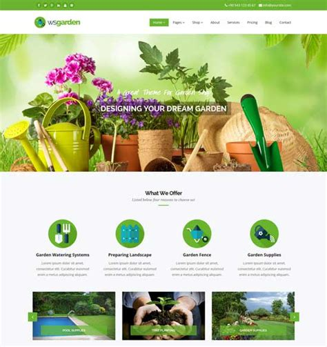 garden design templates free 40 best agriculture website templates free premium