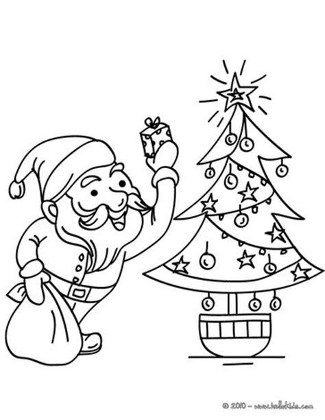 Xoaqwepo Santa Claus Drawing Pages Santa And Tree Coloring Pages