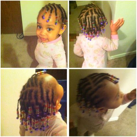braided mixed babies braids with beads babies kids hairstyle natural hair