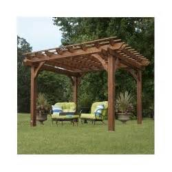 Wooden Patio Canopy by Garden Pergola Free Standing Outdoor Gazebo Wooden Wood