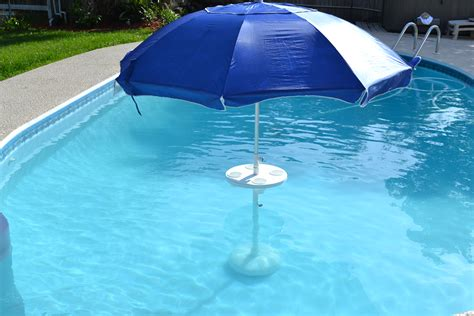 in pool table with umbrella relaxation station pool lounge aughog products ahp