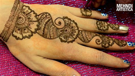 floral easy simple arabic mehndi designs for