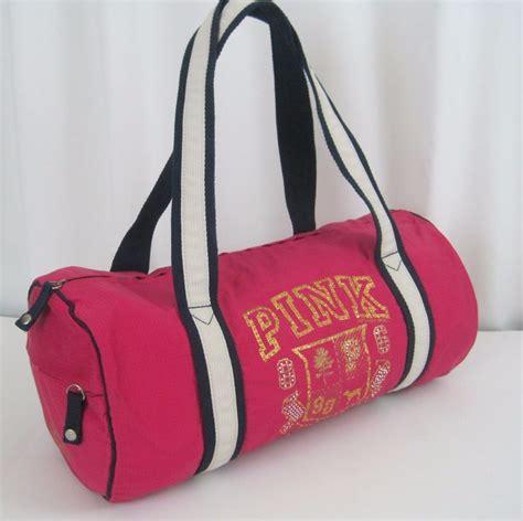 Secret Travel Bag Pink 1 victorias secret pink 86 duffel bag sport bag tote bling road trip early 90s ebay