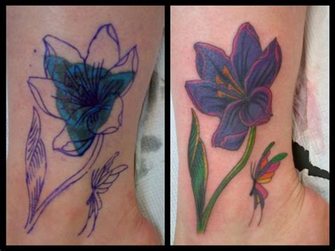 small cover up tattoos three layers of ink cover up of a coverup flower