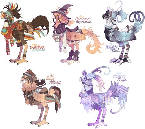 chocobo colors ffxiv chocobo adoptables only 1 left by plumbeck on