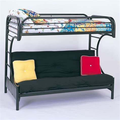Black Metal Futon Bunk Bed Assembly by The Coaster Bunk Beds Are Great Space Savers For Your