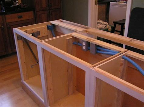 how to build a kitchen island with cabinets diy simple rustic kitchen islands fall home decor