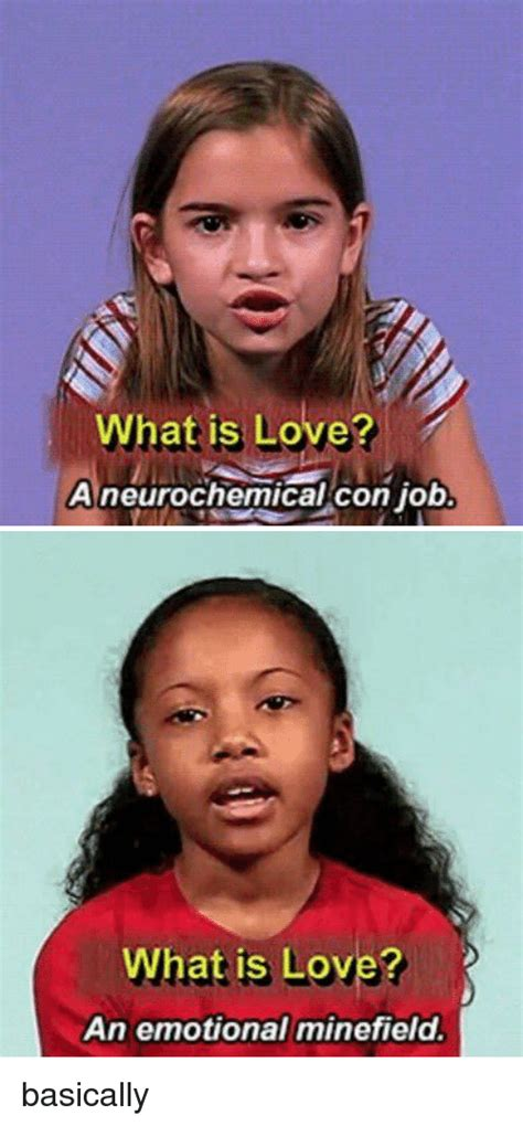 What Is Love Meme - what is love a neurochemical con job what is love an