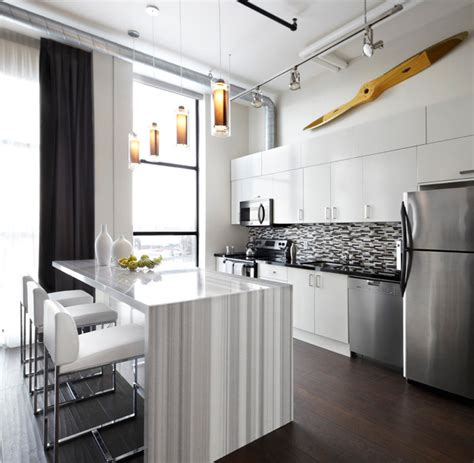 houzz small kitchens small apartments big style contemporary kitchen