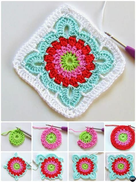 flower pattern granny square crochet granny square free patterns round up flower