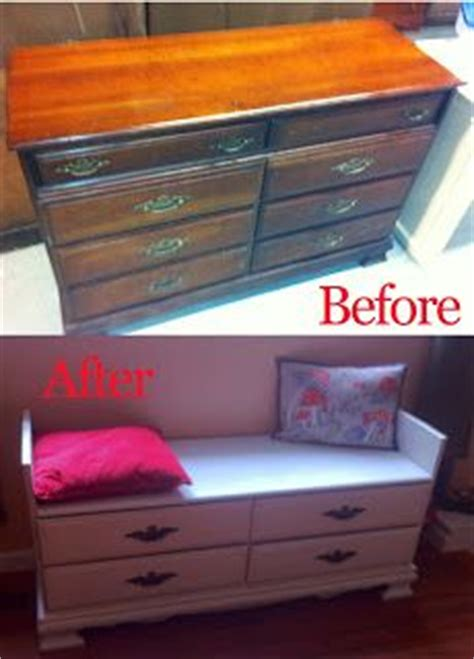 How To Make A Bench From A Dresser by 1000 Ideas About Dresser To Bench On