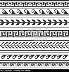 Different Types Of Greek Vases Greek Patterns Handout Editor Examples And Make Paper