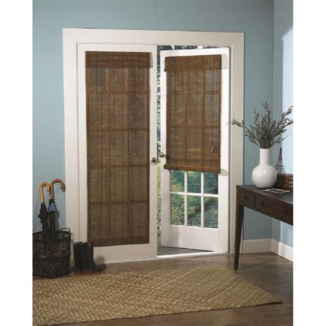 Overstock Patio Doors Roman Fruitwood Bamboo French Patio Door Shade Free