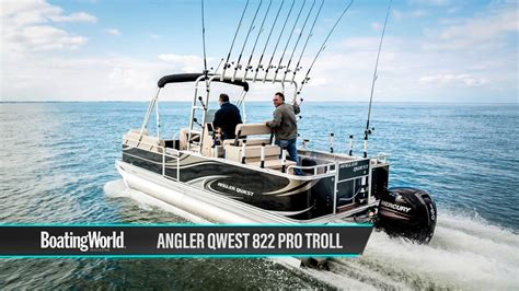 angler pro boats angler qwest 822 pro troll boat test youtube