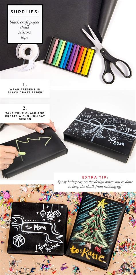 diy chalkboard gift wrap 7 days of gift wrapping ideas diy chalkboard paper