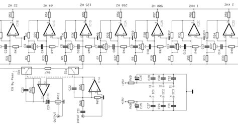 integrated circuit equalizer 10 band graphic equalizer circuit electronic schematic circuit diagram picture