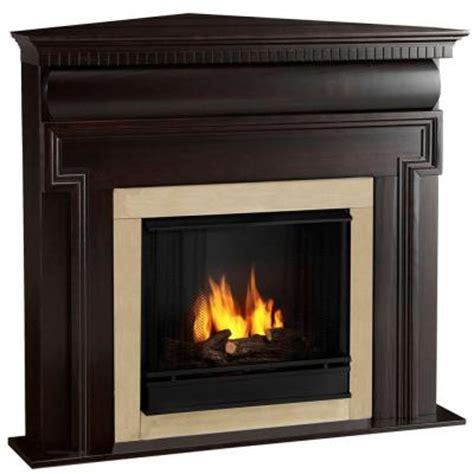 real mt vernon 48 in corner gel fuel fireplace in