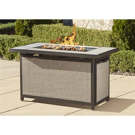 outdoor table with firepit cosco outdoor serene ridge aluminum propane gas firepit