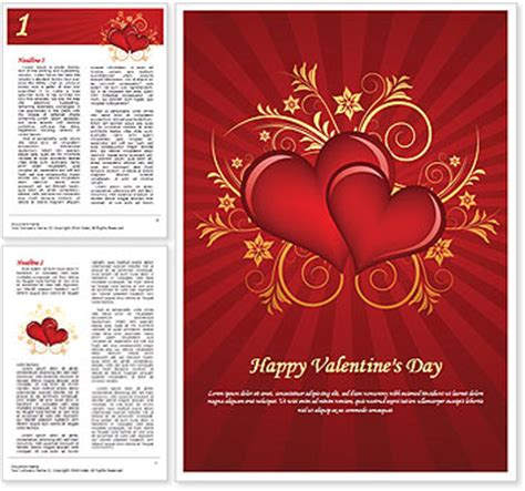 valentine templates for word valentines day word template design id 0000000875