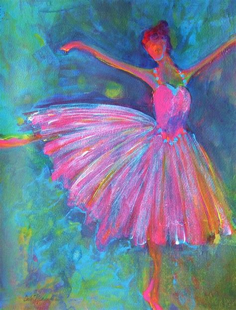 acrylic paint artist ballet bliss painting by deb magelssen