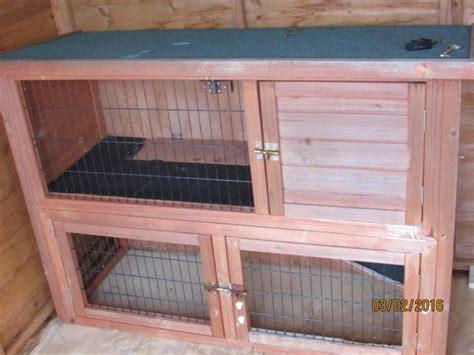 2 Tier Rabbit Hutch For Sale 2 tier rabbit hutch for sale worksop nottinghamshire pets4homes