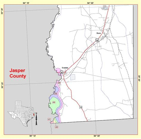 jasper texas map state level maps