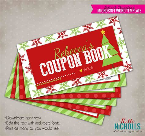 personalized christmas gifts christmas gift coupon book personalized husband or wife