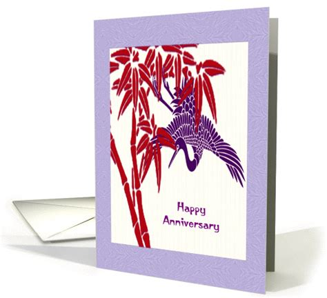 Wedding Wishes Japan by Wedding Anniversary Wishes Japanese Style Crane Bamboo