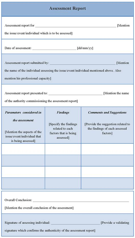 it assessment report template template for assessment report 28 images property