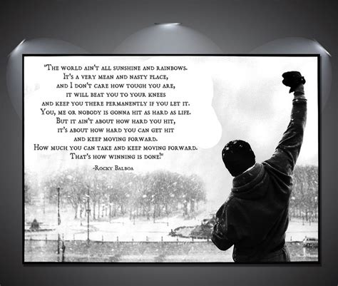 Plakat Rocky by Rocky Balboa Quote Vintage Large Poster A1 A2 A3 A4