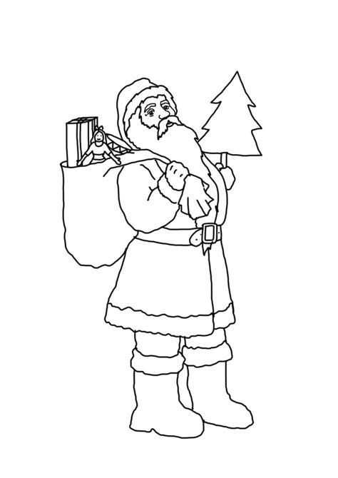 vintage santa coloring page free coloring pages of vintage santa claus