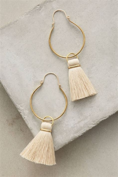 Tasseled Hoop Earrings the 25 best tassels ideas on diy tassel how