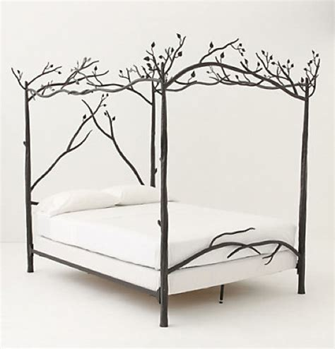 anthropologie bed frame a nature inspired bed the forest canopy frame from