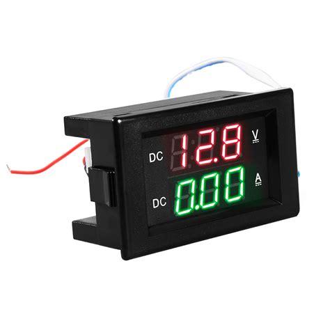 Dual Voltmeter Ermeter Dc 0 100v 50a Led Merah Shunt dc 100v 50a voltmeter ammeter green led dual digital volt meter te525 4894663149093 ebay
